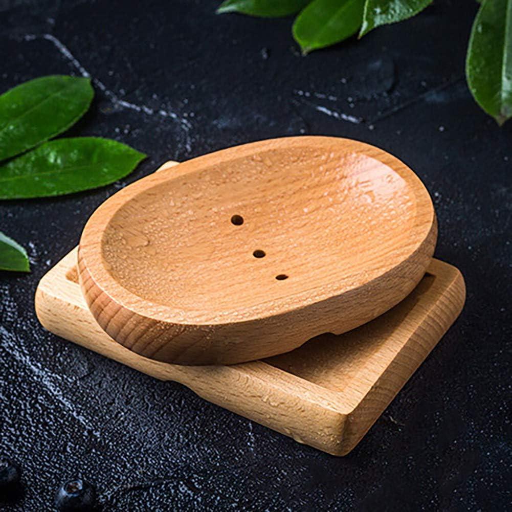 Include 2 Pezzi di Sacchetto di Sapone di sisal hjxvcsdh Vassoio portasapone in Legno Naturale di bamb/ù per lavandino per Doccia