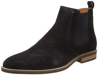 gutes Geschäft Wie findet man begrenzter Stil Tommy Hilfiger Herren Essential Suede Chelsea Boots, blau