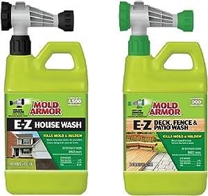 Home Armor FG511 E-Z House Wash 64oz + FG51264 E-Z Deck, Fence & Patio Wash 64oz