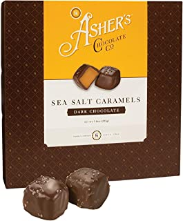 product image for Asher's Chocolates, Chocolate Covered Sea Salt Caramels, Gourmet Sweet and Salty Candy, Small Batches of Kosher Chocolate, Family Owned Since 1892 (7.8 ounce, Dark Chocolate)