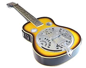 Benson Wild Cat cuello cuadrado Slide/botella cuello acústica/eléctrica guitarra con