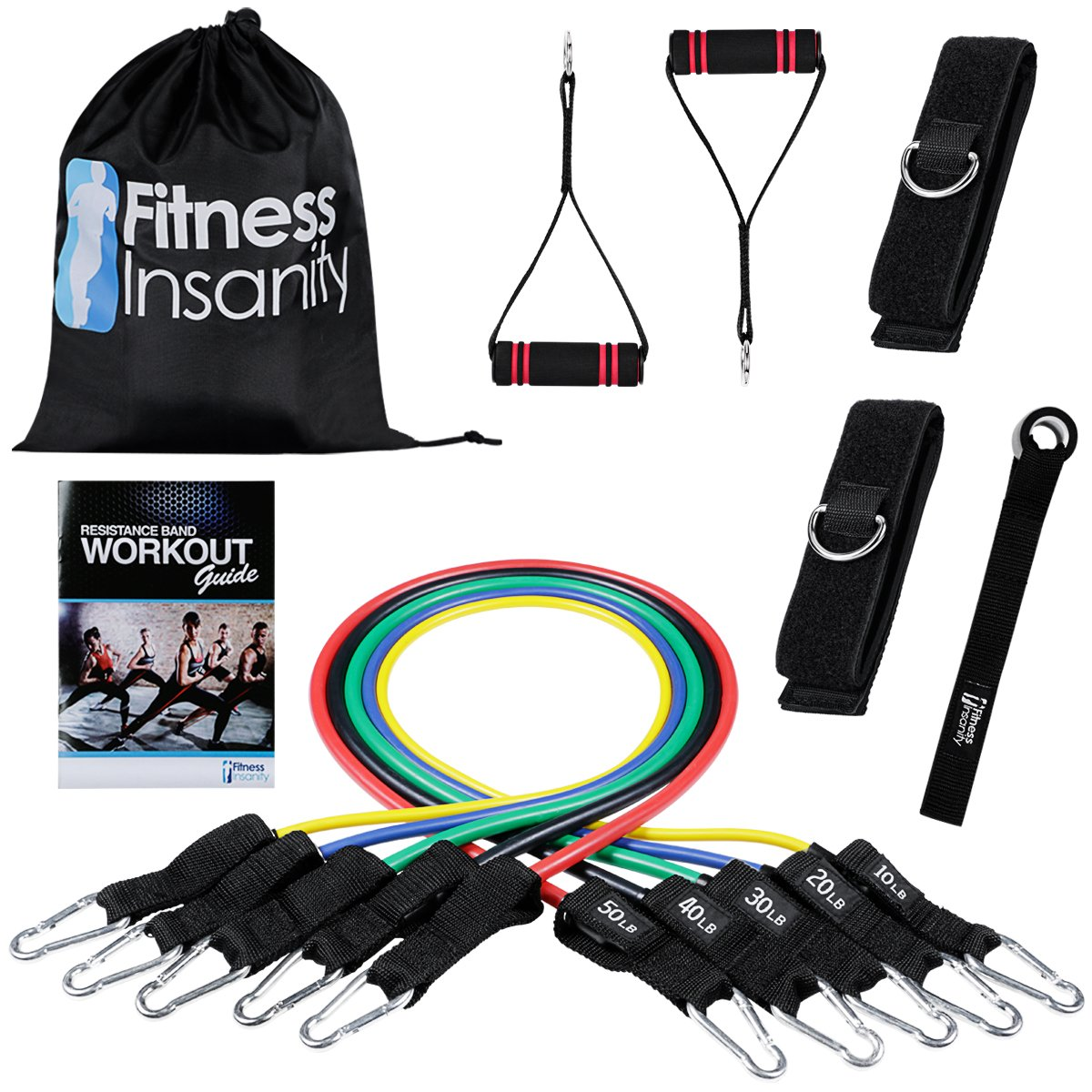 Fitness Insanity Resistance Band Stackable Exercise Bands