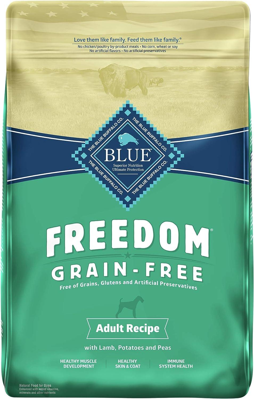 Blue Buffalo Freedom Grain Free Recipe for Dog, Lamb Recipe, 11 lb