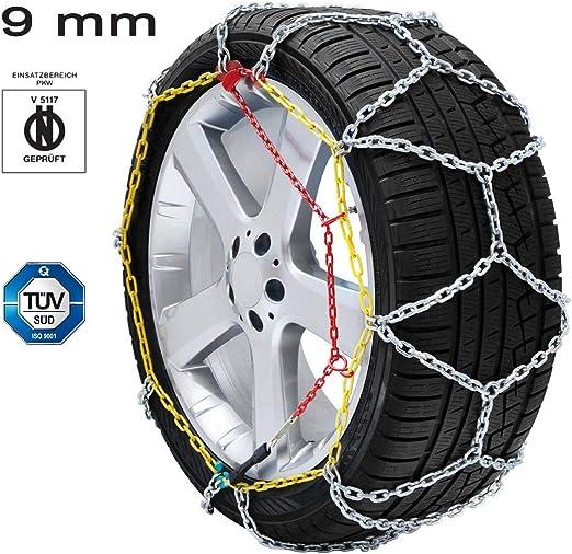 Catene da Neve OMOLOGATE Speed 9mm per Pneumatici GOMME 245//45 R 18 245 45 R 18
