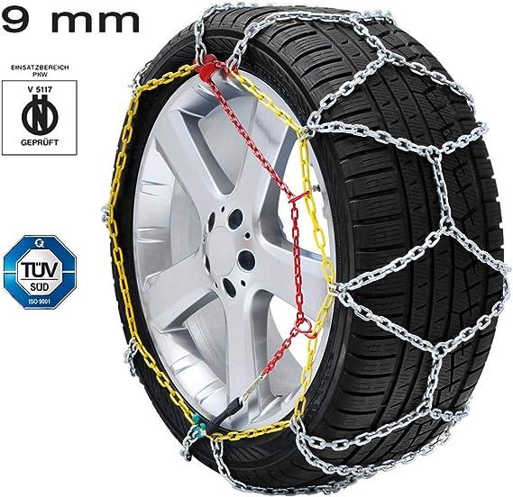 Catene da neve Disegno a rombo 9mm Omologate ONORM Audi TT Coupè Gomma 205//55R16