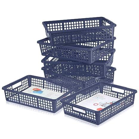 Amazon.com: Paquete de 6 – Cesta organizadora de papel ...
