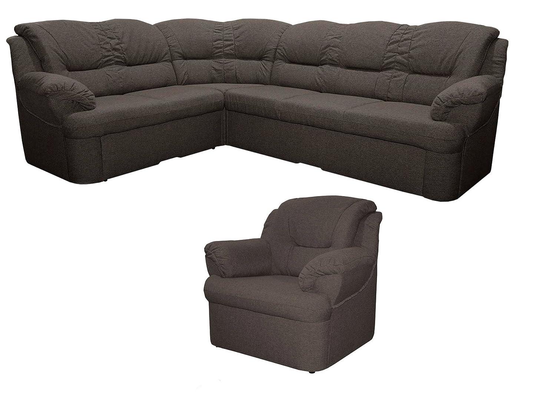 Wohnlandschaft-Set Dores mit Staukasten und Bettfunktion inkl. 1 Sessel