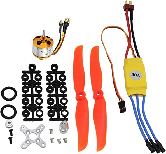 A2212-6T 2200KV Brushless Motor 30A ESC Free Mount For RC Plane Helicopter