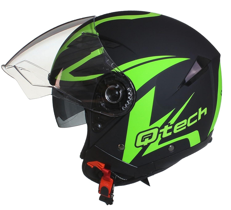 57-58cm M JET CASCO Moto Helm Doppia Visierra Parasole Nero Opaco Vespa EC 22-05 approvato Giallo