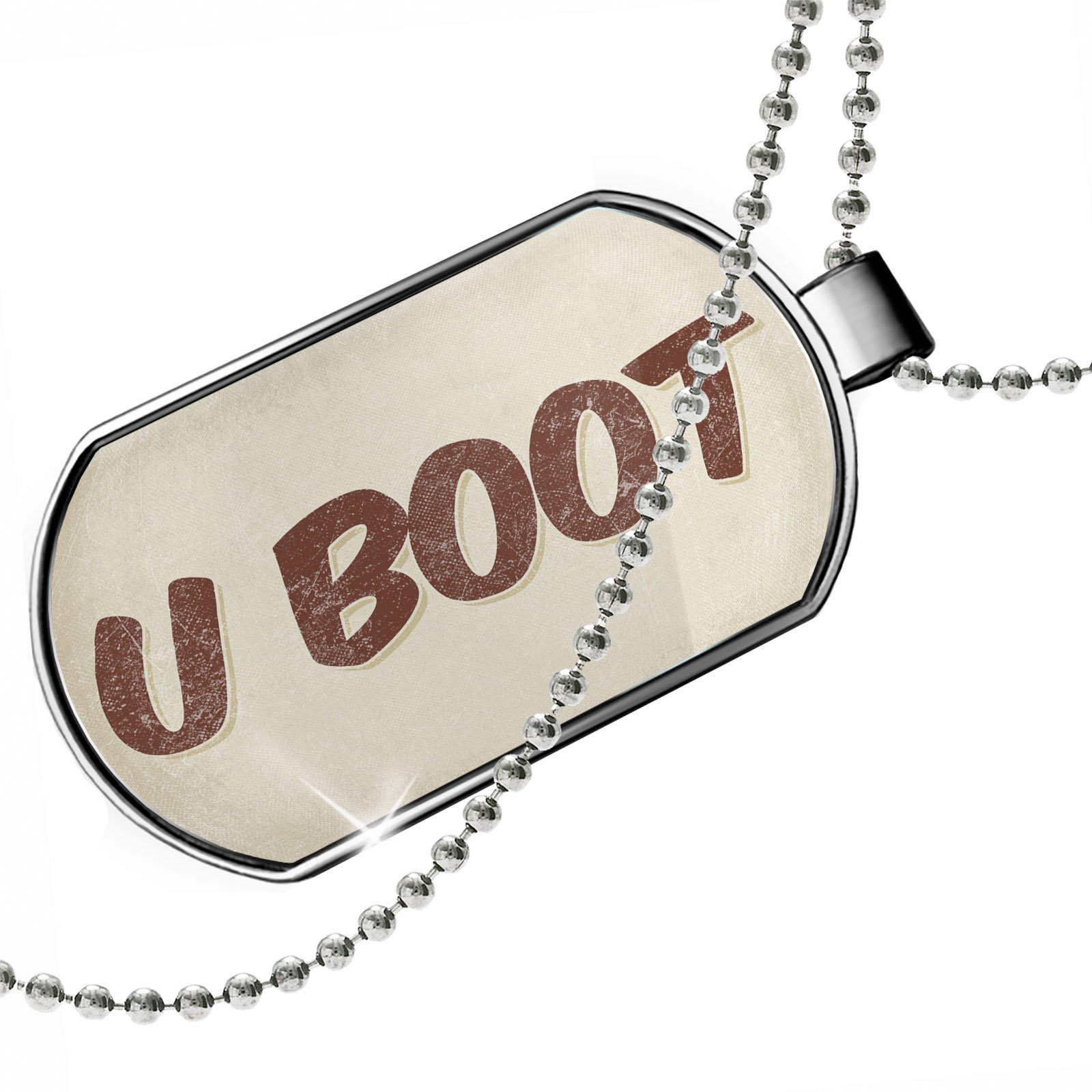 Dogtag U Boot Cocktail, Vintage style Dog tags necklace - Neonblond