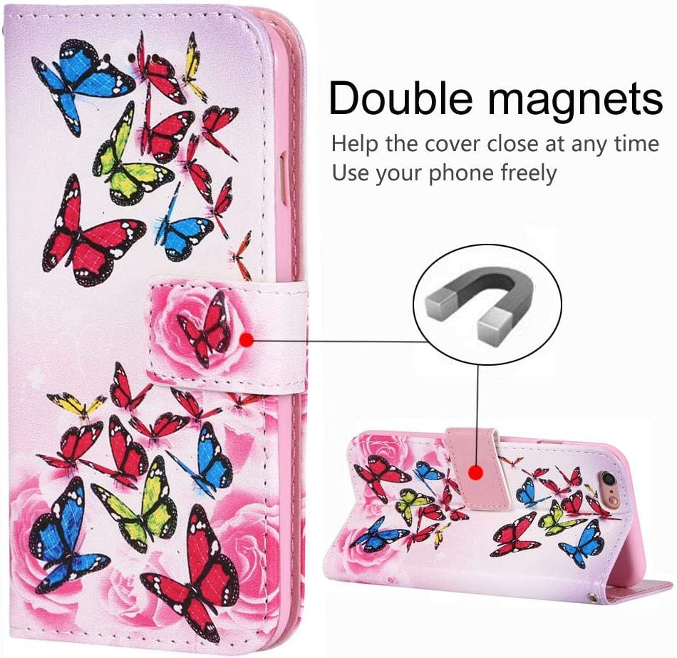 Premium PU Leather Wallet Case Protective Cover for Apple iPhone 7 Plus QLIKER iPhone 7 Plus Case, Magnetic Closure 2 Card Slot