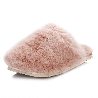 ce4b448e9d39 Image Unavailable. Image not available for. Color  Ted Baker Womens Light  Pink Breae Faux Fur Slippers