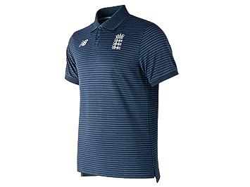 New Balance - Polo de críquet de Inglaterra, Color Azul Marino ...