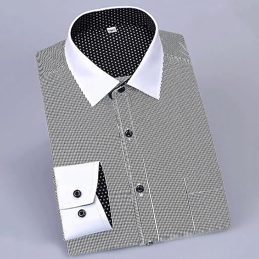 WENJUN Camisa De Manga Larga para Hombres Camisa Slim Camisa De Herramientas para Carrera Profesional 8 Colores para Elegir (Color : 1108, Tamaño : XXXL): Amazon.es: Hogar