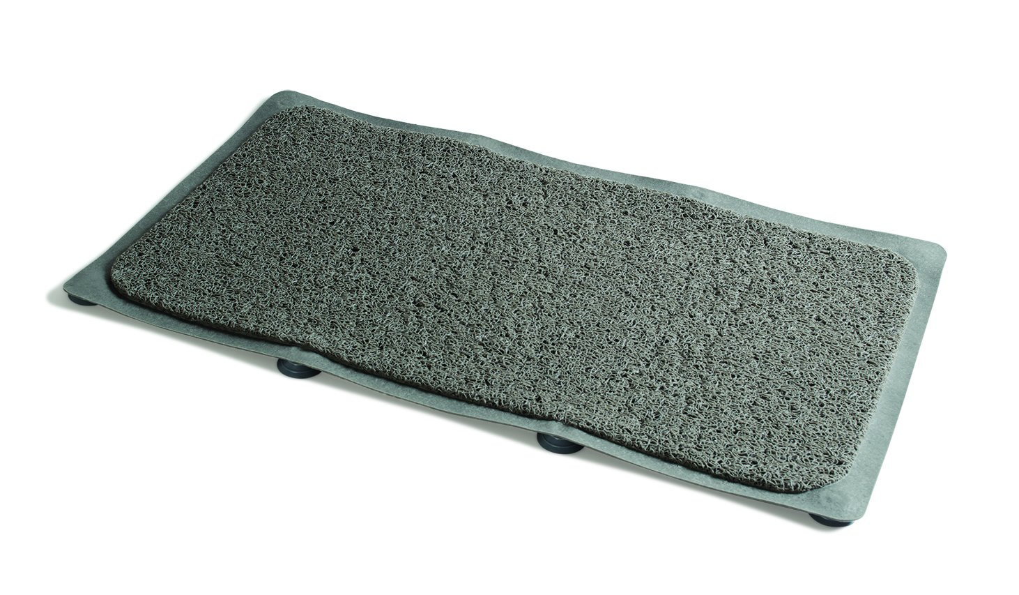 Ideaworks Hydro Rug - Non Slip Bathroom Shower & Bath Mat - 8 Suction Cups - Dries Fast & Stays Clean (Gray)