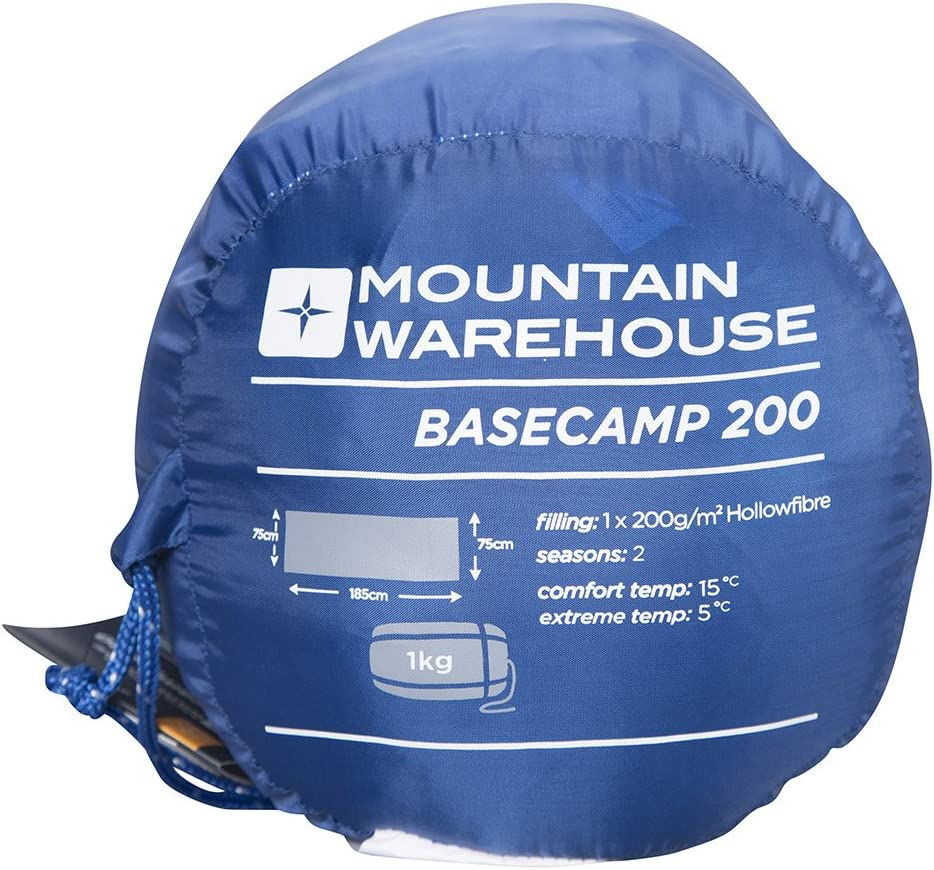 Entretien Facile Sac de Couchage Chaud Mountain Warehouse Sac de Couchage Basecamp 200 pour Enfants et Adultes temp/érature extr/ême de 5C