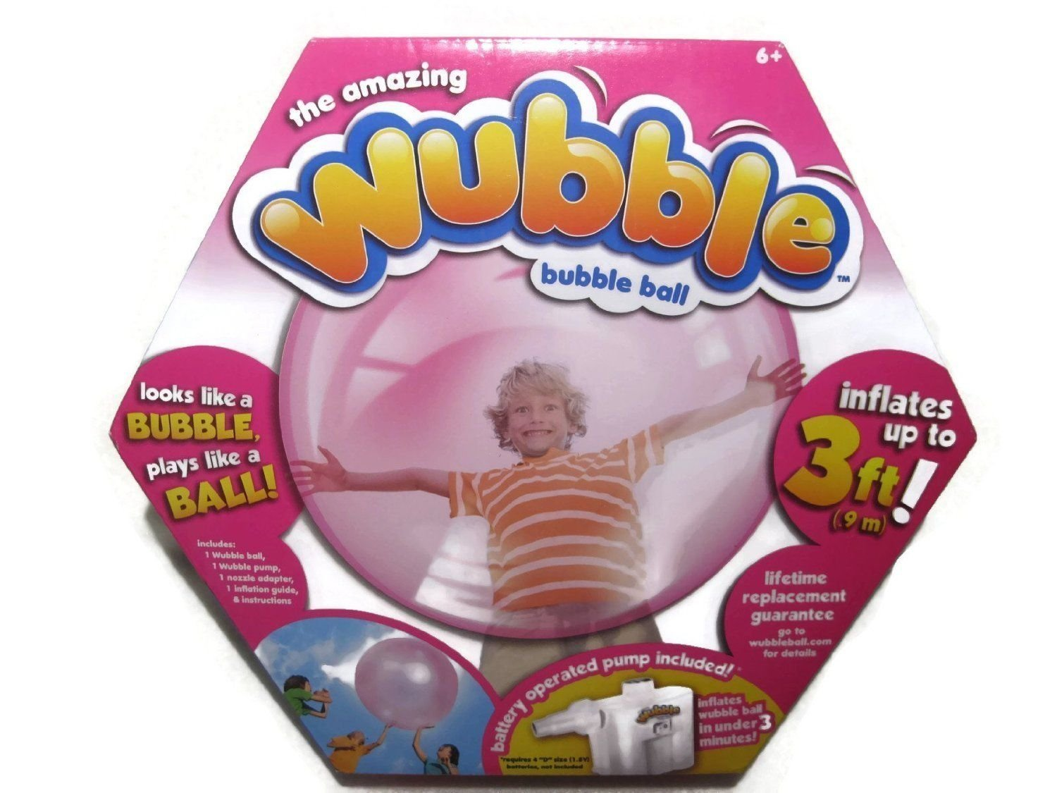 Wubble The Amazing Bubble Ball - Looks Like a Bubble, Plays Like a Ball! Pink
