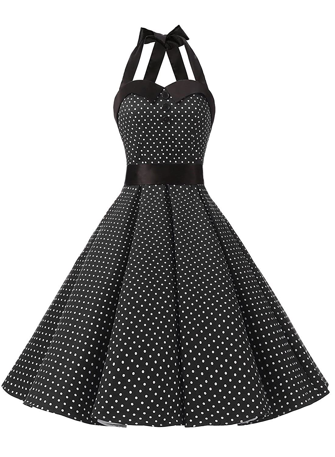 59c708ff52f new Dressystar Vintage Polka Dot Retro Cocktail Prom Dresses 50 s 60 s Rockabilly  Bandage