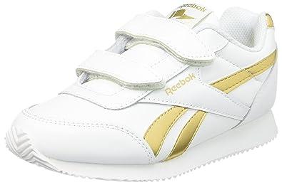 Reebok Bs8019, Chaussures de Sport Fille - Blanc - Blanc (White/Gold Met), 27 EU