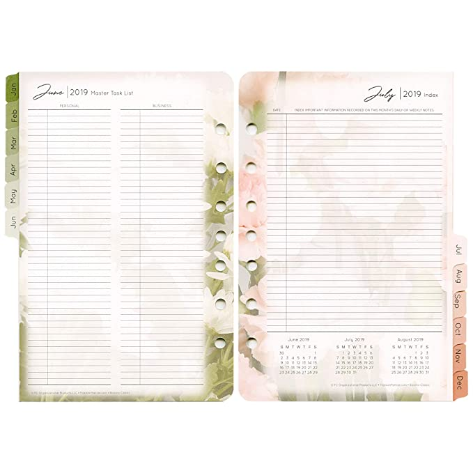 Classic Sized Blooms Weekly Ring-Bound Planner - Jan 2019 - Dec 2019