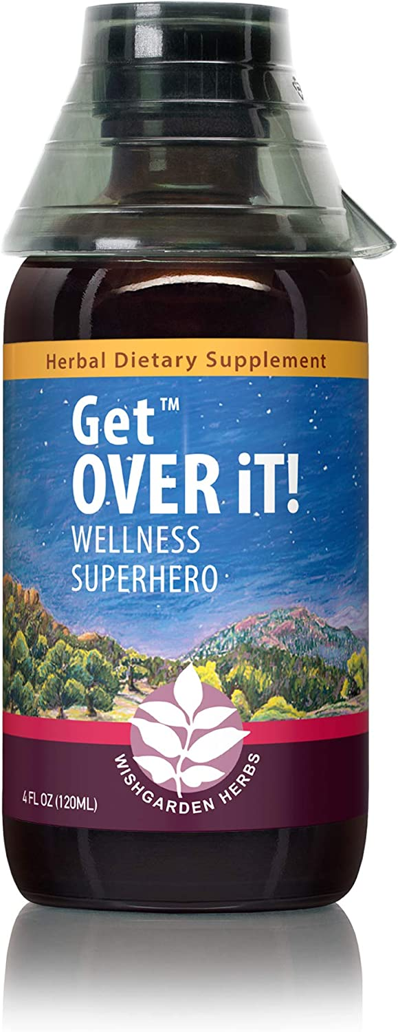 WishGarden Herbs - Get Over It!, Herbal Immune Booster Tincture, Supports Your Body's Natural Immune Response, Maintain a Healthy Immune System (4 Ounce)
