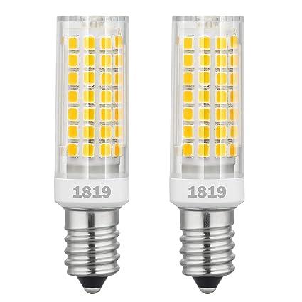 1819 E14 bombillas LED de intensidad regulable 6W equivalente a 75W bombilla halógena, 95V-