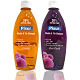 pixur Marble and Tile Shampoo Floor Cleaner for Home, Kitchen, Bathroom (Orange and Deo Fresh) -Combo Pack of 2 Pieces x 600 ml