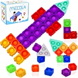 MECOLA Big Fidget Blocks 20 pcs Splicing Pop Fidget Sensory Toys Packs DIY Assembly Puzzles Autism Stress Relief Toys for Kid