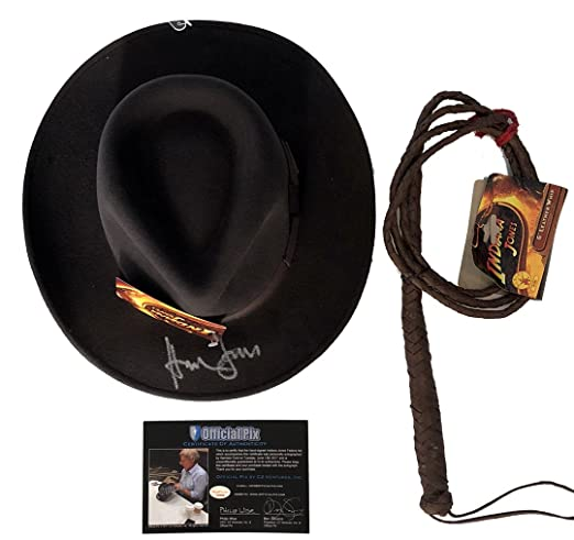 f6707a310e2de Image Unavailable. Image not available for. Color  Harrison Ford  Autographed Indiana Jones Hat ...