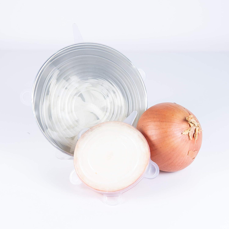Vasos Uso universal en la cocina tazas Sossai Stretch Lids tapa el/ástica Juego de 5 latas tazones lechuga Tapas silicona ajustables Di/ámetro: 65mm fruta.
