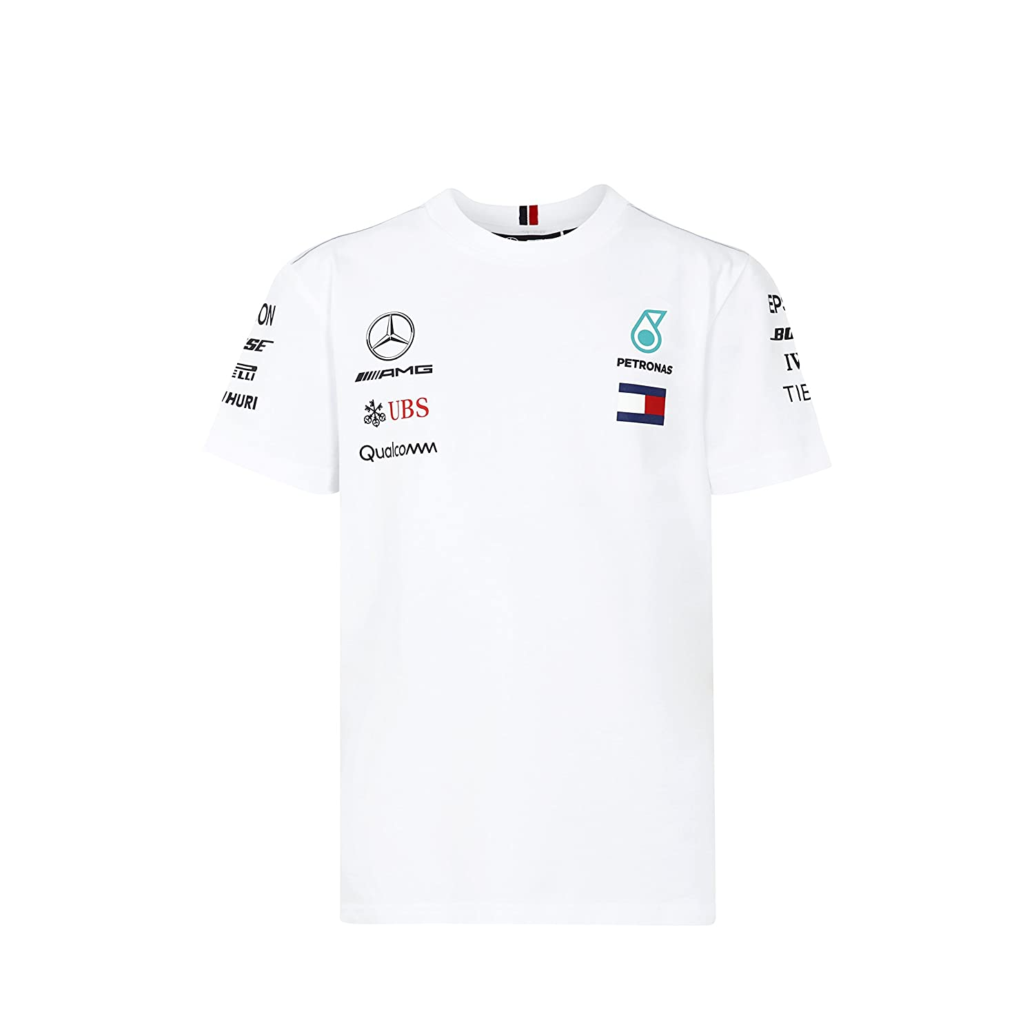 389765a176232 Mercedes Benz AMG Petronas Kids White Authentic F1 Team T-Shirt