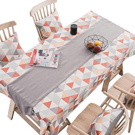 Tejido de Mantel de Estilo escandinavo, manteles limpios y Frescos de algodón Rectangular (Mantel + Corredor de Mesa) (Tamaño : 130 * 220cm): Amazon.es: Hogar
