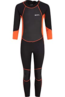 d67ca21dac82 Mountain Warehouse Kids Full Wetsuit - UPF50+ Sun Protection, Neoprene  Children's Wetsuit, Flat Seams