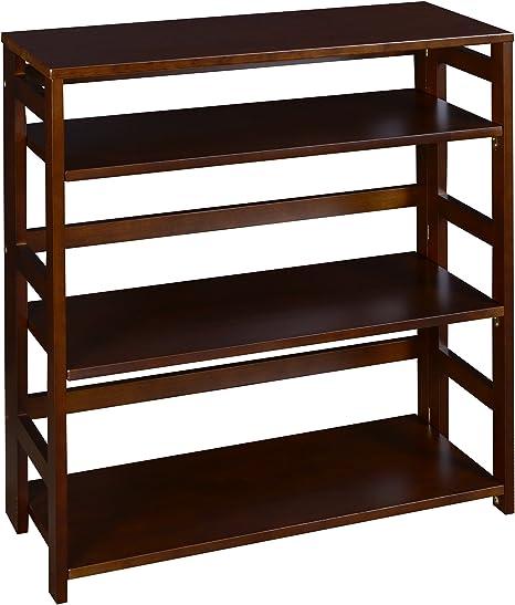 Amazon.com: Regency Flip Flop 34-inch High Folding Bookcase- Mocha