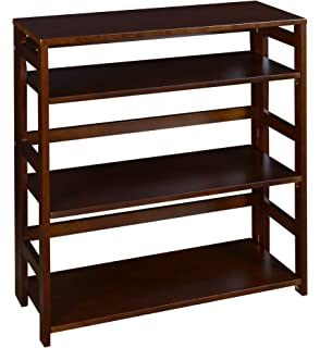 Regency Flip Flop 34 Inch High Folding Bookcase Mocha Walnut