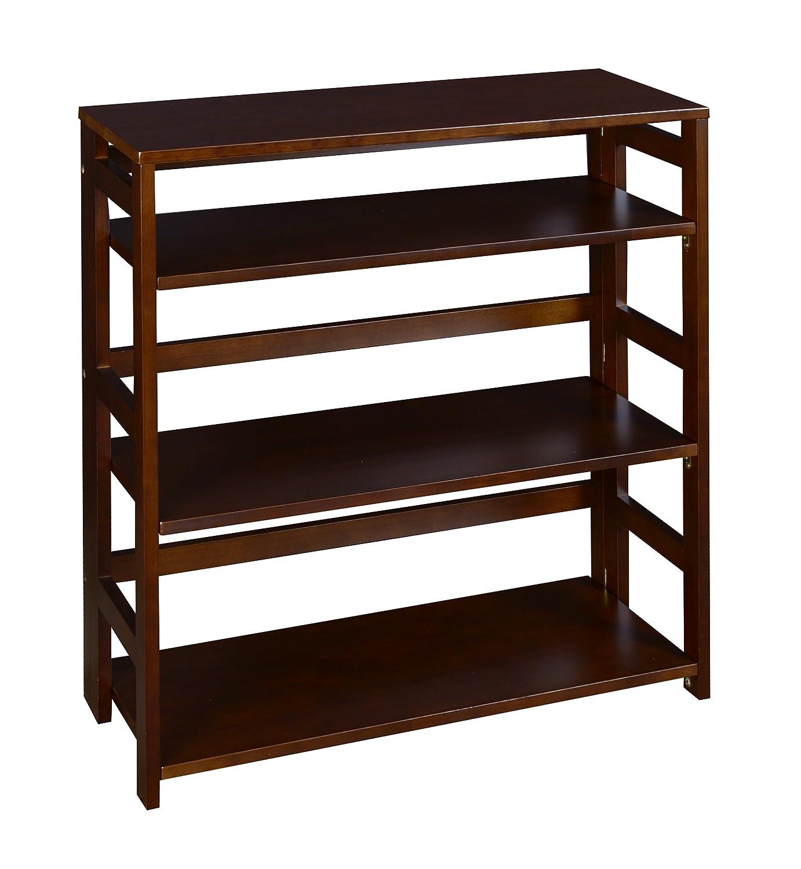 Amazoncom Regency Flip Flop 34 Inch High Folding Bookcase Mocha Walnut