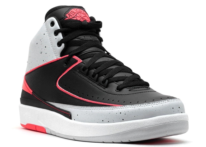release date: cb242 3cb3e Jordan 2 Retro Men's Shoes Black/Infrared-Pure Platinum-White 385475-023