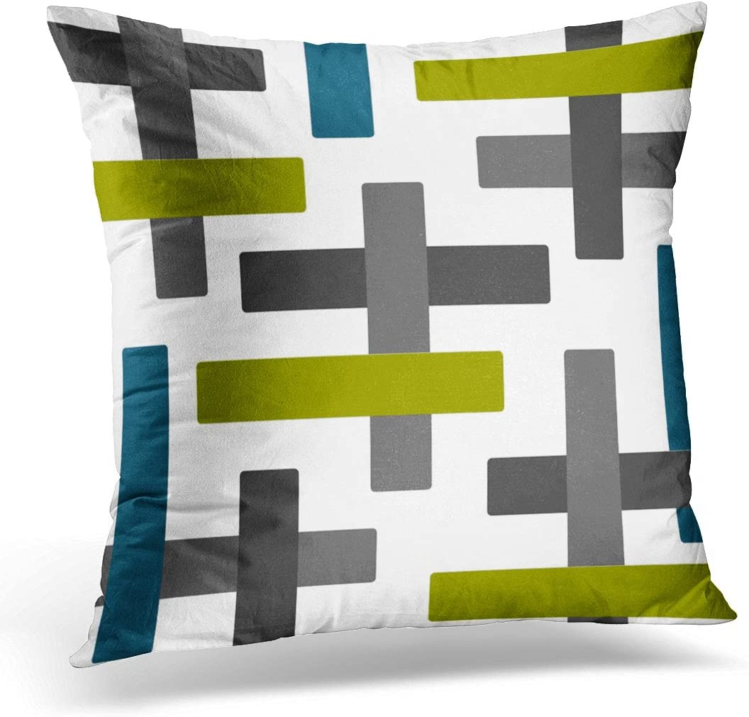 Amazon.com: VANMI Throw Pillow Cover Teal Chartreuse Blue Green