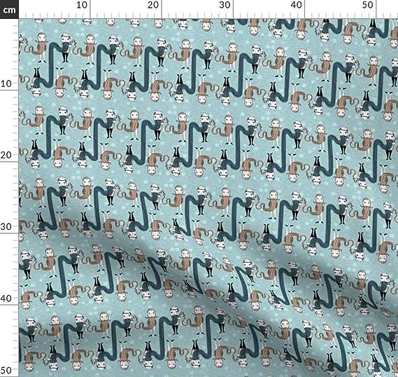 Barba, hombre, fumador, tela marítima – Estampado individual de Spoonflower – Diseño de Nouveau Bohemian impreso en telas, Satén de algodón orgánico, Testdruck: Amazon.es: Amazon.es