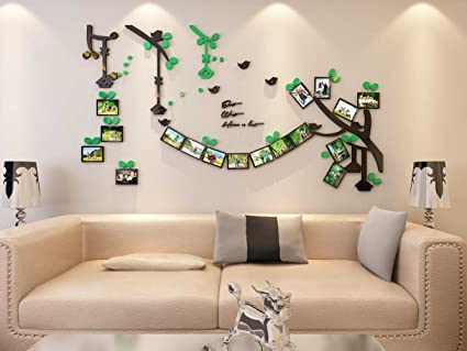 Amazon.com: Large Family Tree Photo Frames Plastic Wall Decal - The ...