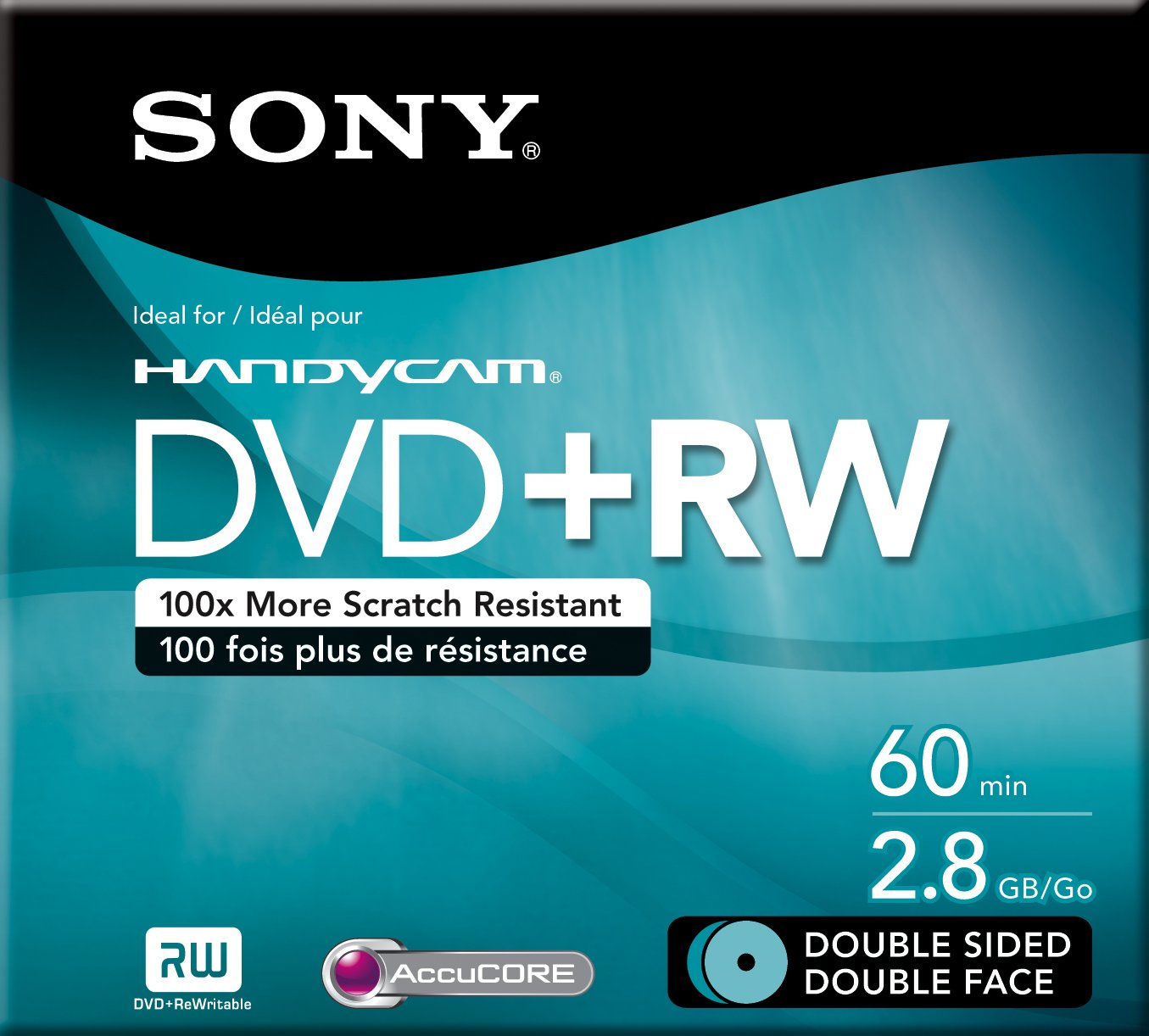 Sony 8cm Double-Sided DVD+RW with Hangtab - Single (Discontinued by Manufacturer)