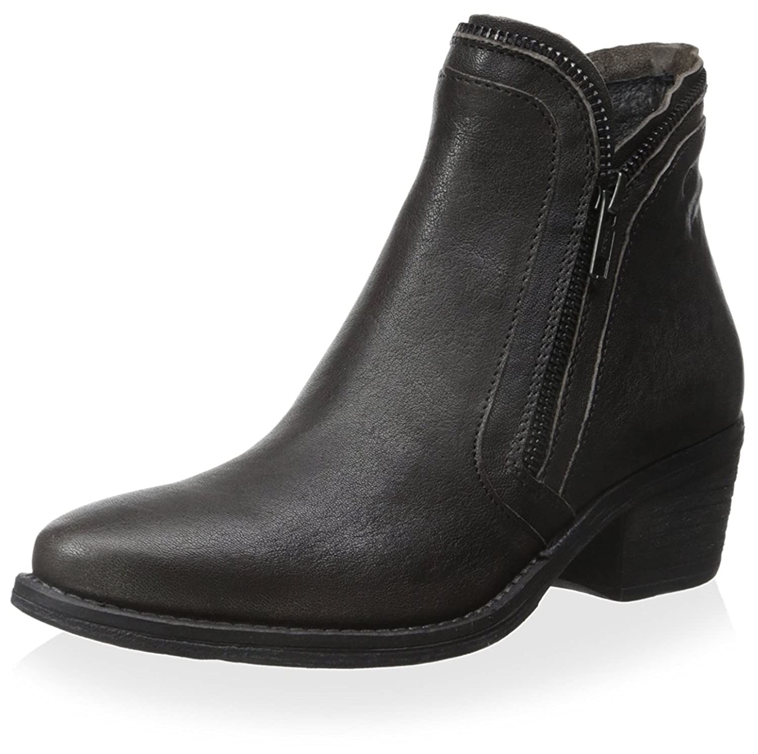 Khrio Women's Slim Double Side Zipper Ankle Boot