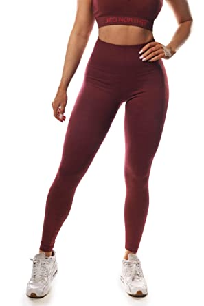 1d72dd9e680261 Jed North Women s Seamless Athletic Gym Fitness Workout Leggings Burgundy