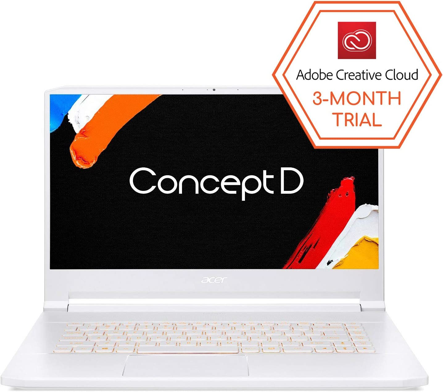"ConceptD 7 CN715-71-73A9 Creator Laptop, Intel i7-9750H, NVIDIA GeForce RTX 2080, RTX Studio, 15.6"" 4K Ultra HD IPS, 100% Adobe RGB Color Gamut, Pantone Validated, Delta E<2, 32GB DDR4, 1TB NVMe SSD"