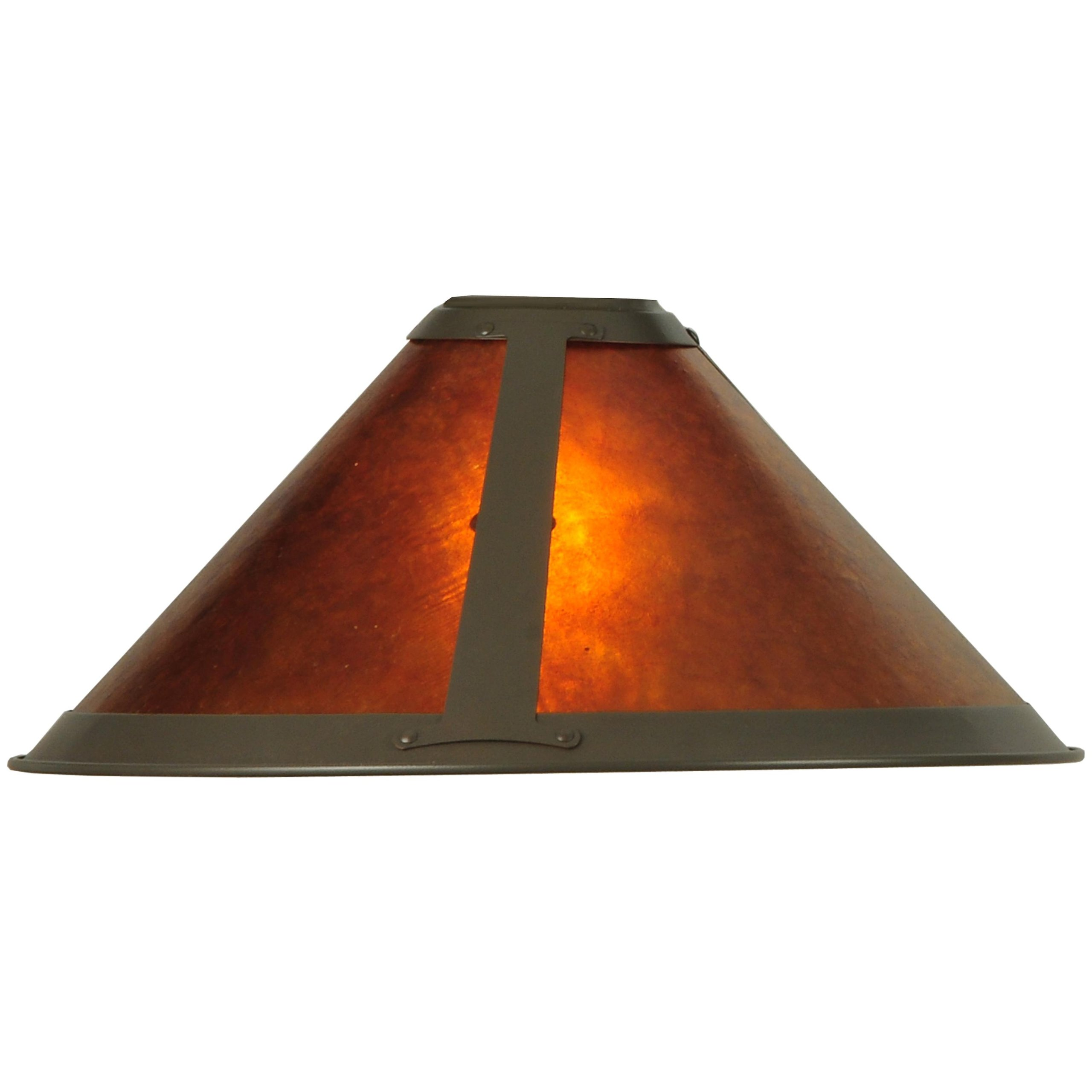 15''W Van Erp Amber Mica Torchiere Replacement Shade by Meyda