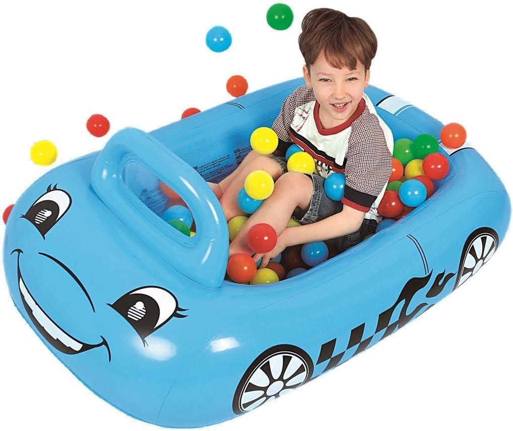 Jilong Coche Pit Ball Pool - Piscina de Bolas para niños, Incl. 25 Bolas, para niños a Partir de 3 años de Edad,, 117x79x50 cm