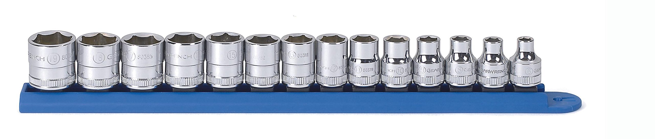 GearWrench 80552 14 Pc. 3/8'' Drive 6 Point Metric Standard Socket Set by GearWrench
