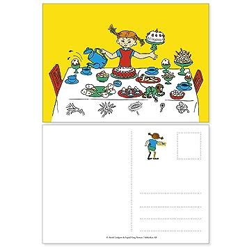 Pippi Langstrumpf 44.3770.00   Einladungskarten, 12 Stück, Neutral