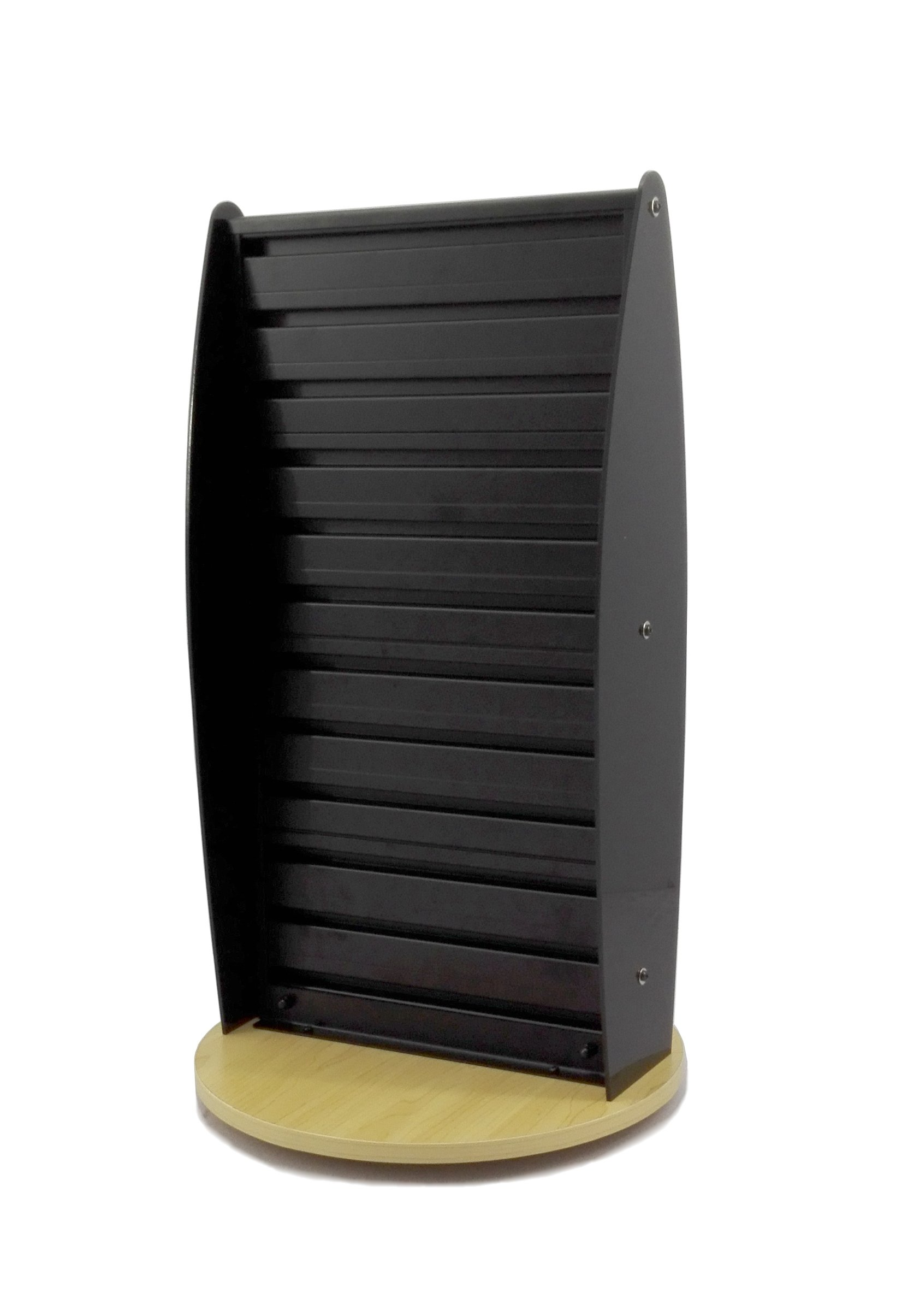 FixtureDisplays Black Slatwall Display Countertop Spinner Rack POP POS Retail Stand 11560-BLACK