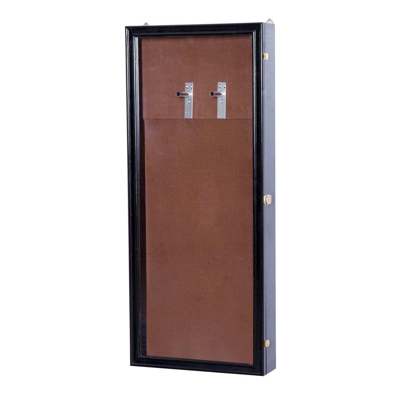 HOMCOM Guitar Shadow Box Lockable Display Security Case - Black